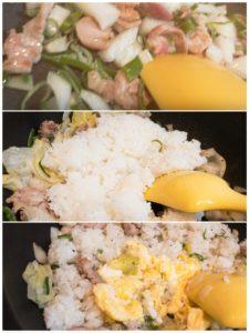 炒飯は具材同士が似ていても、炒めてしまうと…