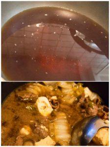 お出汁をベースにすき焼きの割り下