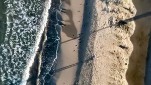 2017年夏 ドローンで空撮した象潟海水浴場