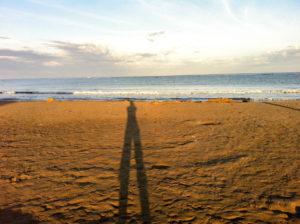 象潟海水浴場の朝