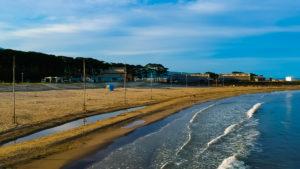 2017年夏 ドローンで空撮した象潟海水浴場遠景